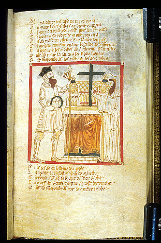 Fierenbras takes the relics from the altar at St Peter's.