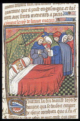 Death-bed of Charles IV
