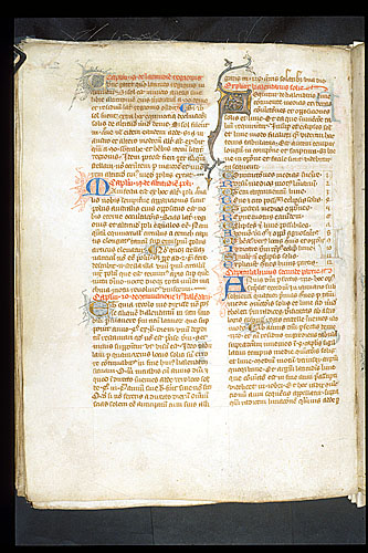 Decorated initial 'A'(equitur)