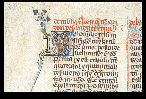 Decorated initial 'D'(e)