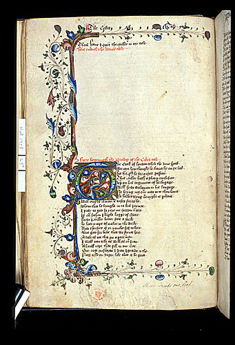 Decorated border and initial