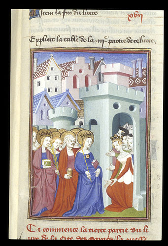 Justice, the Virgin and Saints