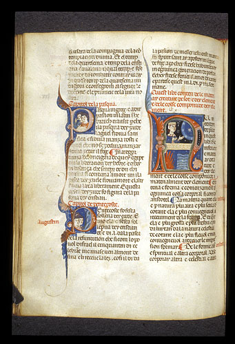 Historiated initials of Easter and Pentecost