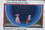 Dante and Beatrice and the nine heavenly orders