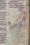Marginal drawing of an angel rescuing the psalmist