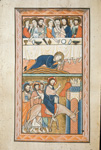 Mary Magdalene anointing Christ's feet and the Entry into Jerusalem