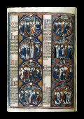 Biblical scenes and moralisations in a series of eight ...