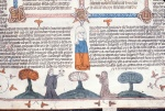 Monk giving a chalice and host to Mary of Egypt