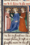 Queen with two attendants
