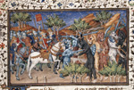 Battle with horse-headed men