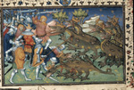 Battle with two-headed dragons