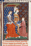 Boccaccio presenting his book