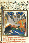 Priam and his son Polites being killed before the altar