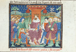 King Haguel receiving Ponthus