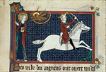 Rider on a white horse