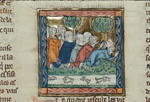 Joseph of Arimathea and his followers praying