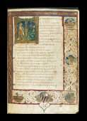 Historiated initial and border