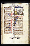 Miniature and illuminated initial.