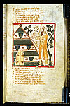 Drawing of Isorez bringing the keys of Rome to Laban's tent.