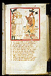 Roland and Oliver brought as prisoners before Laban.
