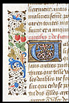 Detail of initial 'U' and border.