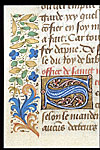 Detail of initial 'S' and border.