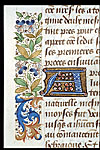Detail of initial 'A' and border.