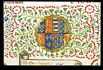 Arms of England impaled with the arms of Anjou