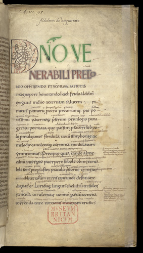 Decorated intial and incipit