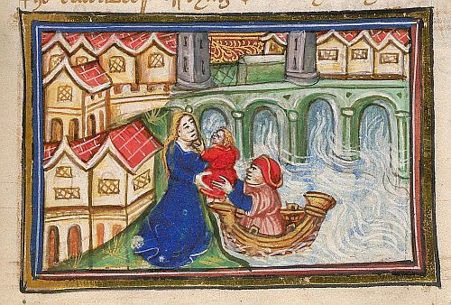 Infant being returned to its mother
