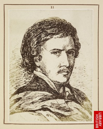 Luis Tristan:  Head supposed to be his portrait. (From a drawing by William Barclay.)