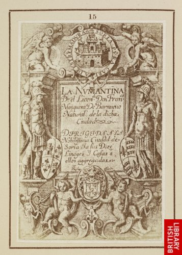 Francisco Heylan:  Title page to 'La Numantina'. (Madrid, 1612.)