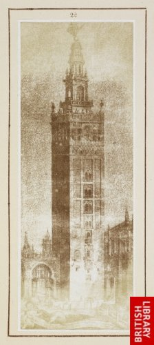 The Giralda, or great Moorish belfry of the Cathedral of Seville.