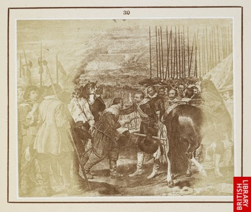 Diego Velasquez:  The surrender of the keys of Breda ... 1625. (From a lithograph.)
