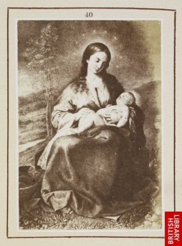 Alonso Cano:  The Virgin adoring the Infant Saviour. (From a lithograph.)