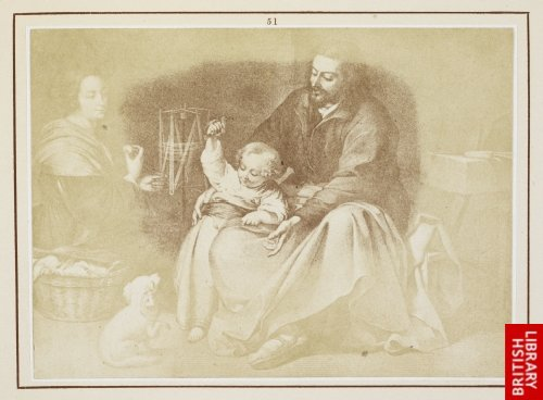 Murillo:  Holy Family, known as that of the Little Bird. (From a lithograph.)