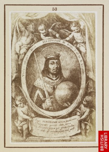 Murillo:  St. Ferdinand. (From the engraving by Mathias Arteaga, 1672.)