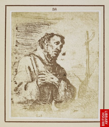 Murillo:  St. Francis. (From an etching by Murillo.)