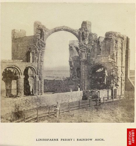 Lindisfarne Priory; Rainbow Arch.