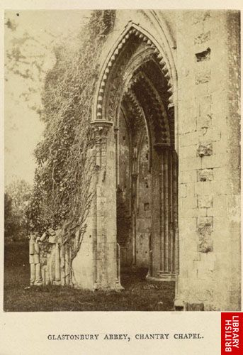 Glastonbury Abbey, chantry chapel.