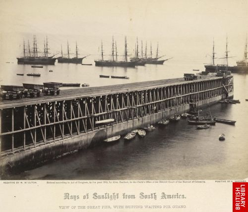 View of the great pier, with shipping waiting for guano.