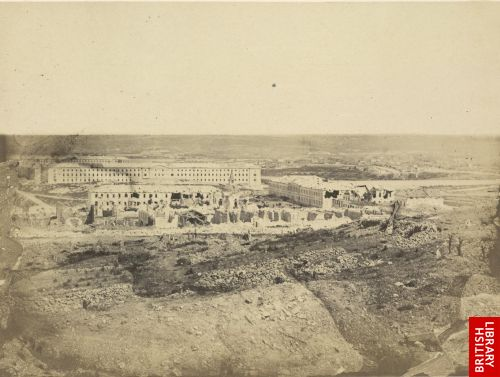 View of the Russian barracks behind the Redan.