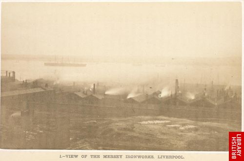 View of the Mersey Ironworks, Liverpool.