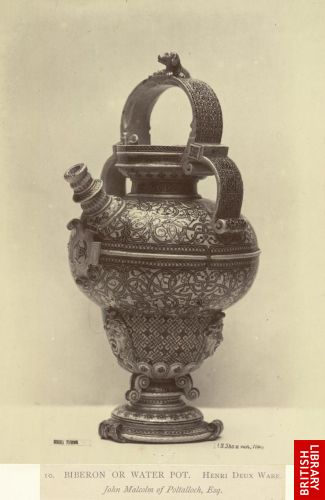 Biberon or water pot. Henri Deux Ware. John Malcom of Poltalloch, Esq.