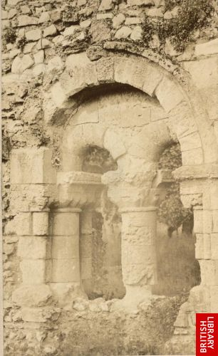 [Window in a medieval ruin]