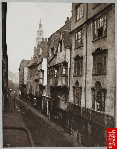 Old Houses in Wych Street. 1876.