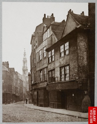 Old Houses in Drury Lane. 1876.