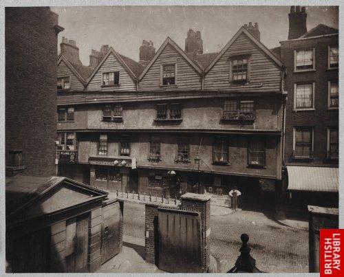 Old Houses in Gray's Inn Lane. 1878.