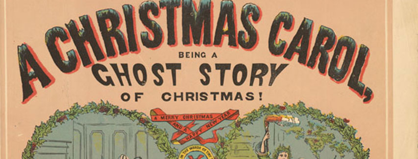 Detail from Royal Playbill Showing Charles Dickens's A Christmas Carol