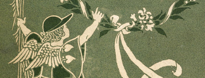 Detail from the cover of A Flower Wedding